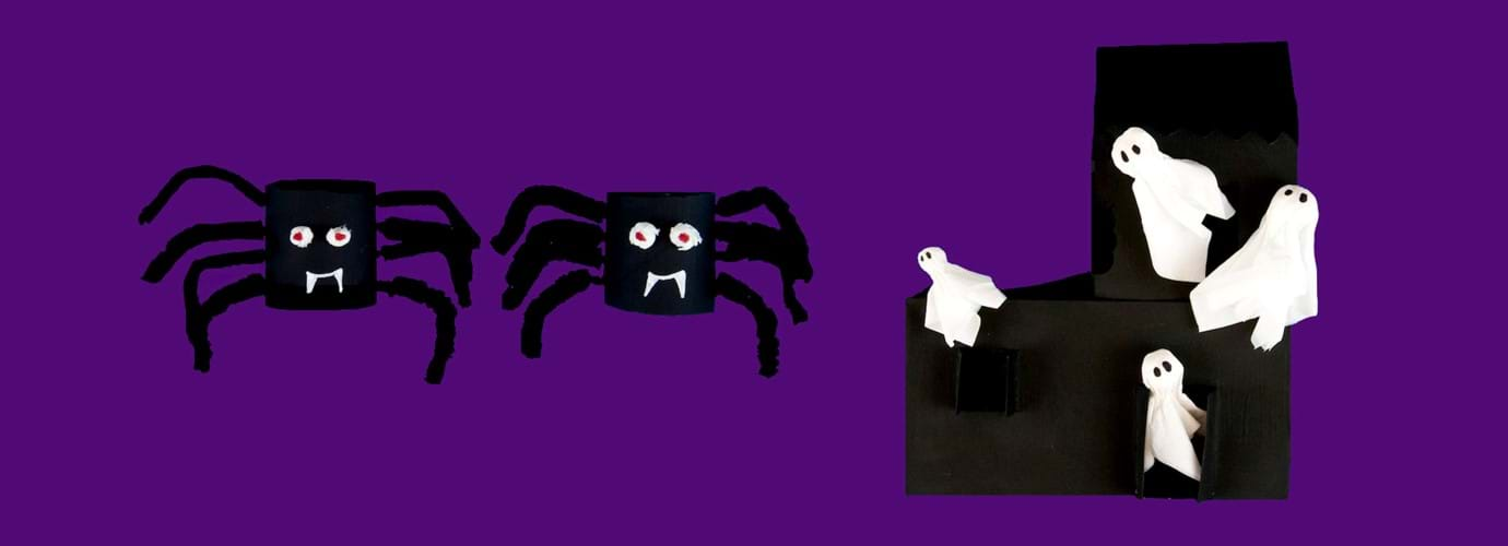 2 scarily simple Halloween crafts for kids