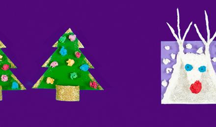 2 beautiful DIY christmas card ideas for kids
